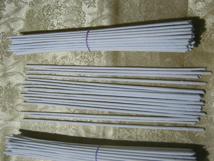 Трубочки для плетения из офисной бумаги